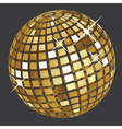 Golden disco ball2 vector image