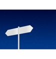 Blank signpost on sky background vector image