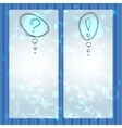 Question Mark And Exclamation Point labels on vector image