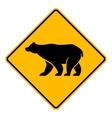 traffic sign wildlife bear vector image