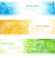 light burst banner set vector image vector image