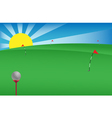golf banner vector image