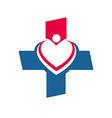 Medical logo Icon Healthy concept Love vector image