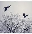 crow and tree vector image