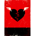 Broken heart with wings vector image