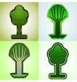 Cyber tree tags set vector image