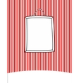 Hand drawn frame on stripes wall background vector image