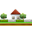 House behind the fence vector image