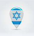Israel icon point for map vector image