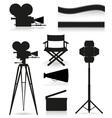 set icons cinema 05 vector image