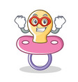 super hero baby pacifier character cartoon vector image