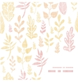 Textile textured fall leaves frame corner pattern vector image