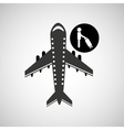 travel flying concept passenger suitcase design vector image