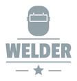welder mask logo simple gray style vector image