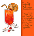 with Tequila Sunrise cocktail vector image