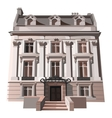 Three-storey house in European or American style vector image
