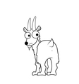 Goat cartoon vector image vector image