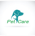Pet care shop design on white background dog and vector image