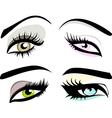Beautiful girls eyes set vector image vector image