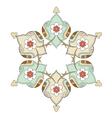 artistic ottoman pattern series eight vector image