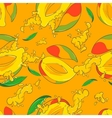 seamless pattern with mango vector image