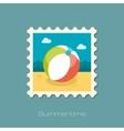 Beach Ball flat stamp vector image