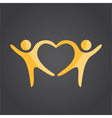 Two people form heart shape vector image