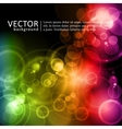 magic lights in rainbow colors vector image vector image