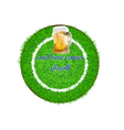 grass mat for beer vector image vector image