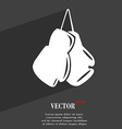boxing gloves symbol Flat modern web design with vector image