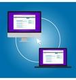 remote access pc laptop connection management vector image