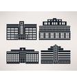City hospital icon Set flat style vector image