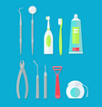 dental tools set vector image