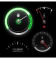 Fuel gauge speedometer collection vector image