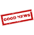Good news red stamp vector image