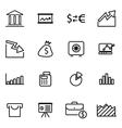 line economic icon set vector image