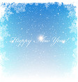 New Year Postcard Frosty frame Isolated center vector image