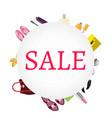 sale banner women s accessories vector image