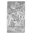 silk scarf was designed in france it has a floral vector image
