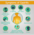 symptoms of gastritis logo icon vector image