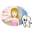 girl brushing her teeth vector image vector image