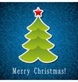 christmas holiday tree vector image