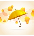 Colored leafs and umbrella background vector image
