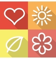 Set of contoured flat icons vector image