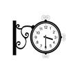 clock antique beauty black vector image