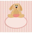 baby greetings card vector image vector image