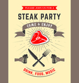 steak party vector image