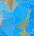 Abstract geometric background with blue triangles vector image