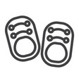 baby shoes line icon footwear and fashion vector image