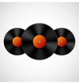 Background with vinyl records vector image